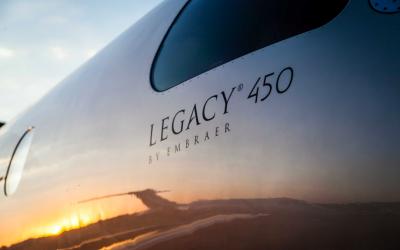 Embraer entrega primeiro jato executivo Legacy 450 no Brasil