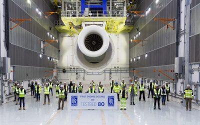 Rolls-Royce realiza com sucesso a primeira operação do Testbed 80